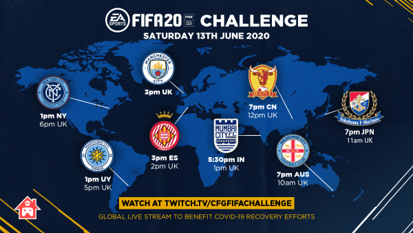 FIFA20 CHALLENGE SATURDAY 13TH JUNE 2020